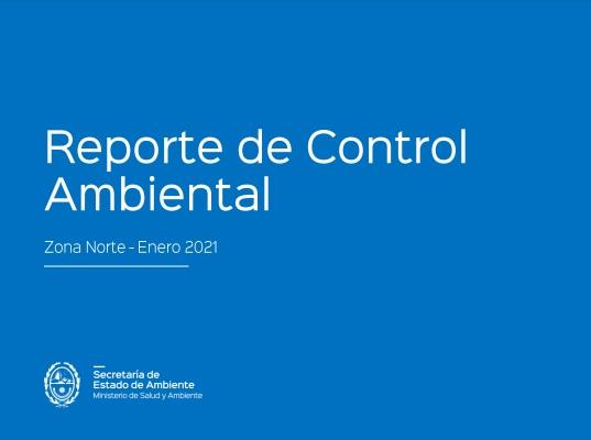 Reporte de Control Ambiental- Zona Norte- Enero 2021